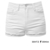 high waisted white shorts cuff | Dentz Denim