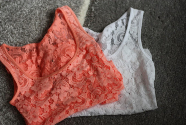 tank top cropped lace top