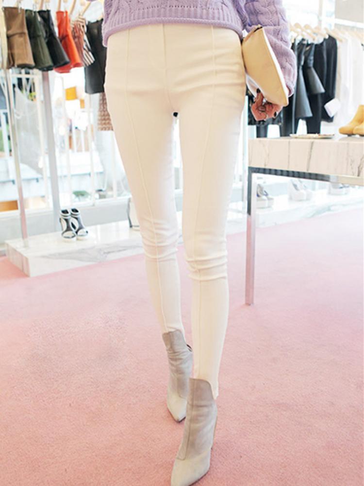 Basic White Pencil Pants | abaday