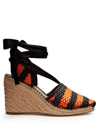 espadrilles black orange shoes