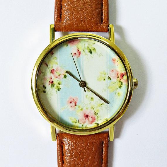 Grandma's Wallpaper  Floral Watch Vintage Style by FreeForme