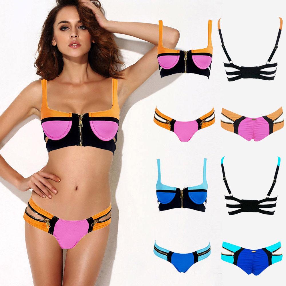 Women's Bandage Bikini Set Push Up Padded Bra Swimsuit Bathing Suit Swimwear | eBay