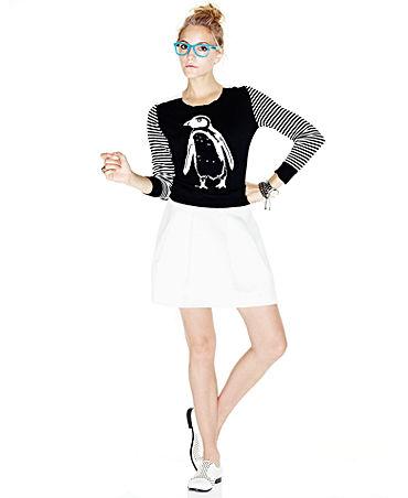 kensie Skirt, Pleated A-Line Twill - Skirts - Women - Macy's