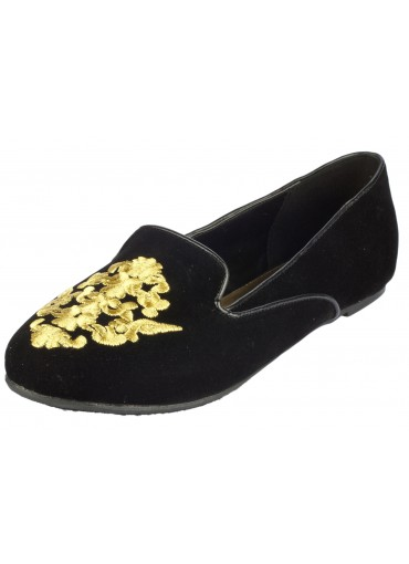 Kingdom Come Smoking Slippers Black at Prima donna