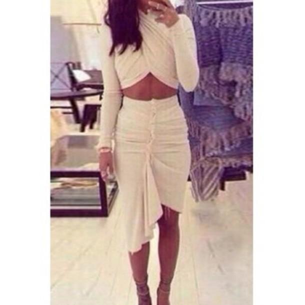 dress clubwear club dress midi skirt