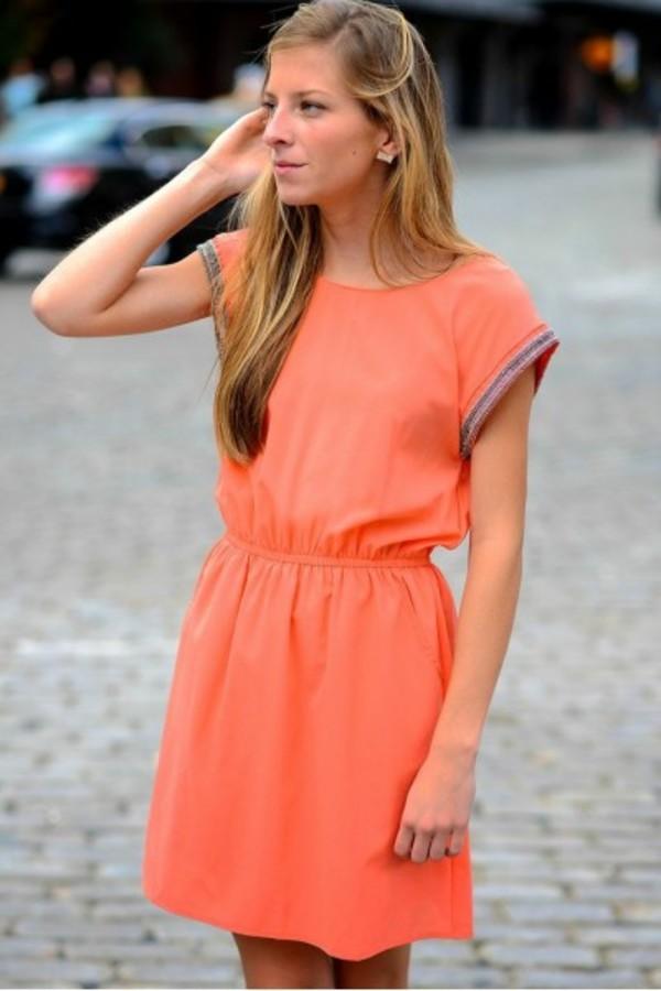 dress dresss style fashion ootd fashion blogger style blogger fashionista stylish orange dress coral dress