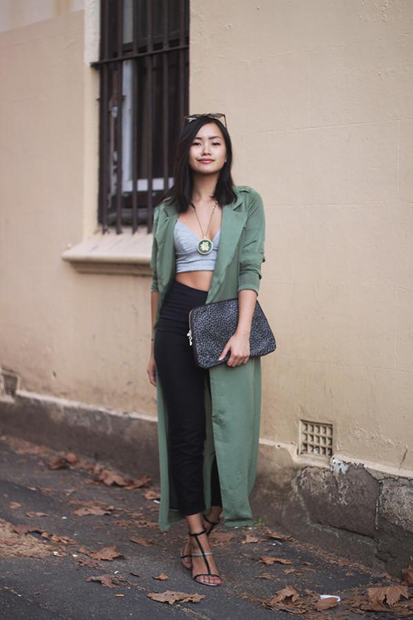 jess loves fred coat shoes sunglasses jewels bag