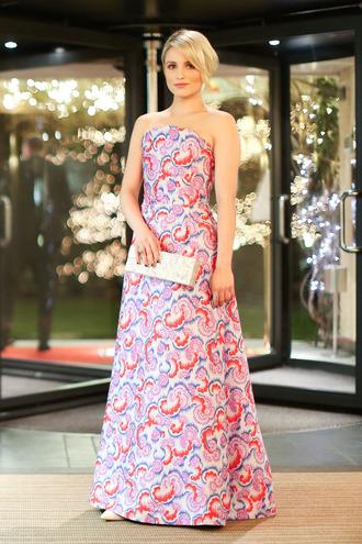 gown strapless dianna agron dress