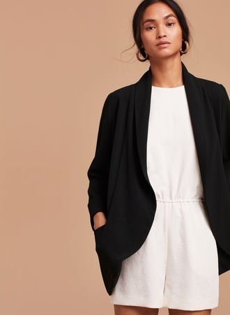 jacket wilfred black unstructured blazer