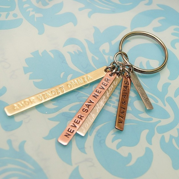 Lacci portachiavi - Personalized key chain with five plates.  - un prodotto unico di SheBijou su DaWanda