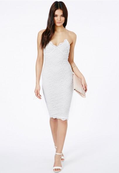 Zoraide Lace Strappy Midi Dress - Dresses - Midi Dresses - Missguided
