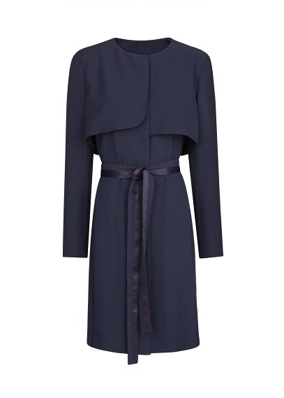 satin bow trench