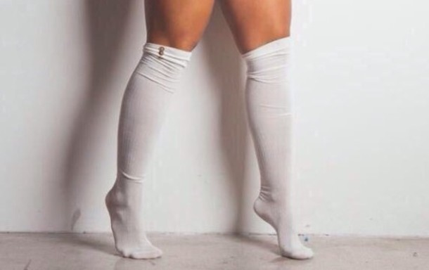 socks white stalkings material