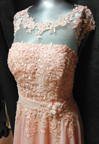 Passion Pink Lace Evening Dress  (86751) - MADE to ORDER | Bridal wear, bridesmaid and red carpet dresses from Elliot Claire London