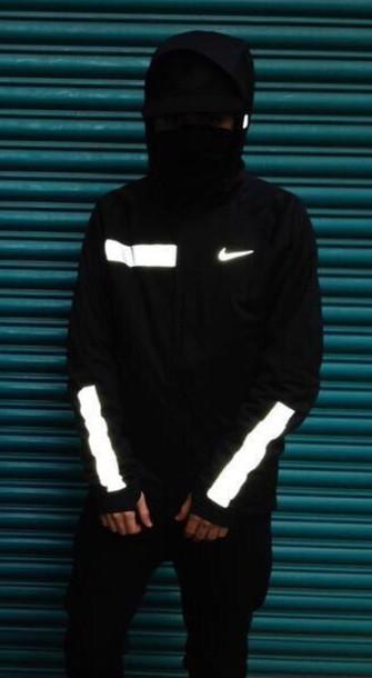 jacket white nike