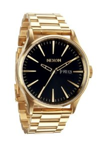 Nixon - Sentry SS - All Gold / Black: Watches: Amazon.com