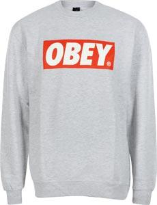 Obey The Box Sweater grau meliert