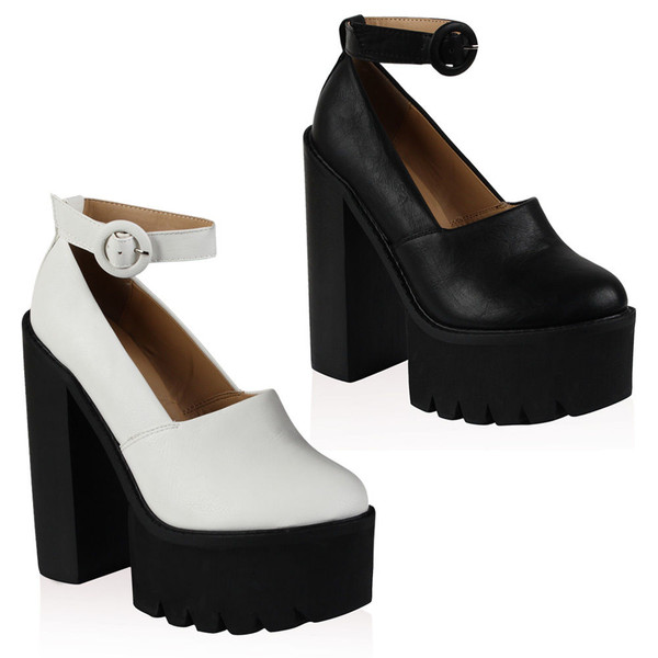 shoes platform shoes leather ankle shoes high heels open shoes