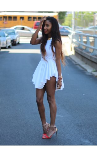 LUXE High Society Mini Dress In White -  from The Fashion Bible  UK