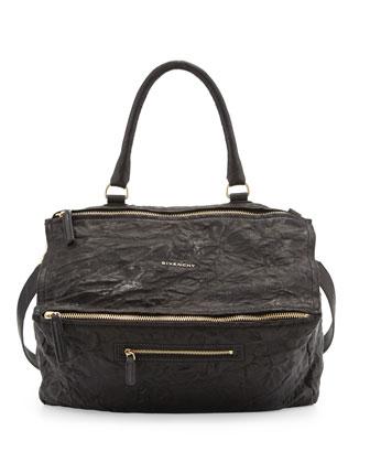 Givenchy Pandora Pepe Large Leather Bag, Black - Bergdorf Goodman