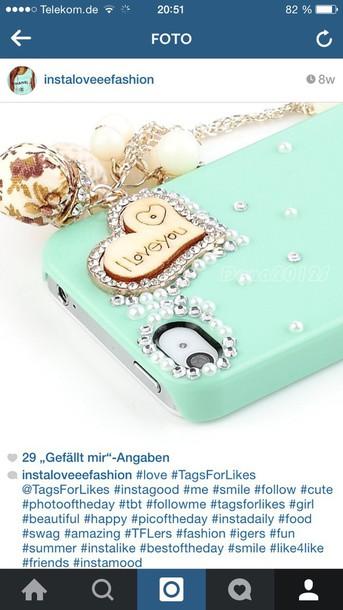 phone cover iphone 6 case mint mint glitter love