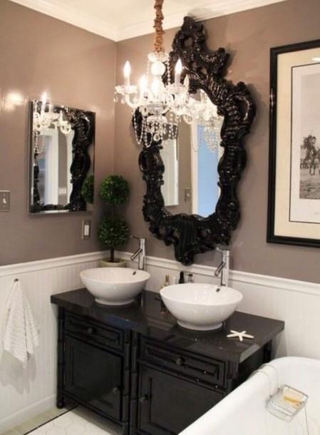 hair accessory bathroom mirror classy