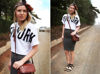 shoes bag t-shirt elenita skirt