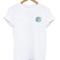 Shirt: waves white blue print circle
