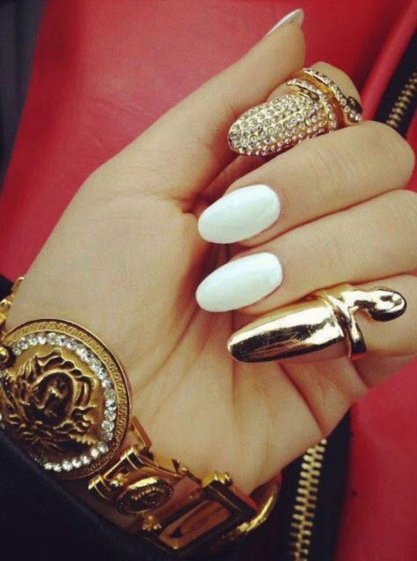 jewels gold nail armour jeweled ring fingernail ring ring nail accessories nail accessories nails