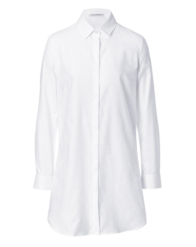 CottonLongSleeveShirtdressinWhitefromJ.W.ANDERSON | Luxury fashion online | STYLEBOP.com