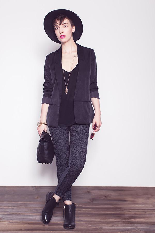 natalie's fashion workshop pants sunglasses shoes jacket jewels bag