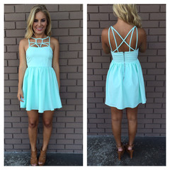 Pale Mint Strappy Dress                           | Dainty Hooligan Boutique