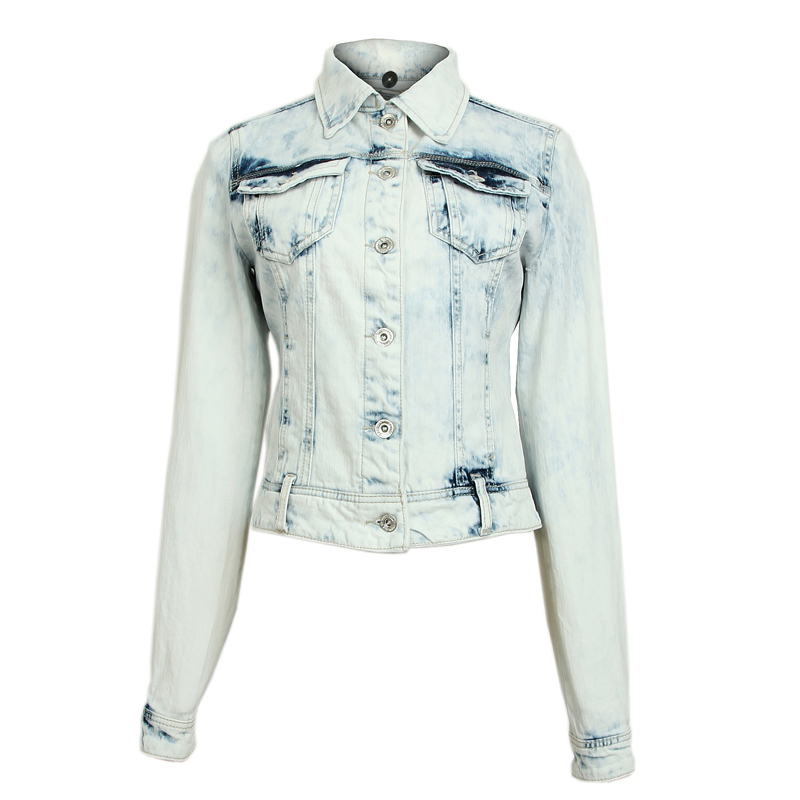 Free Shipping Personality fashion white jeans short coat-inBasic Jackets from Apparel & Accessories on Aliexpress.com