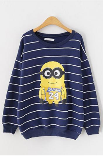 Fall and winter clothes Striped Sweatshirt(3 colors)_Sweatshirts_CLOTHING_Voguec Shop