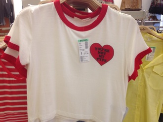 shirt your not my type heart valentine red