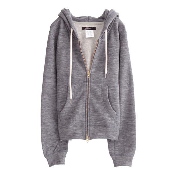 jacket gym clothes grey hoodie