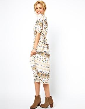 ASOS | ASOS Midi Dress In Vintage Floral Print at ASOS