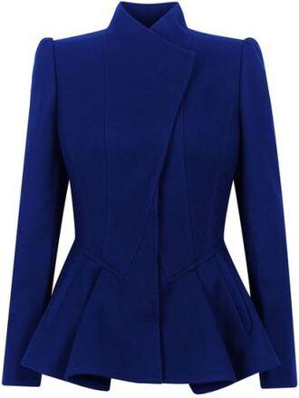 jacket cobalt peplum