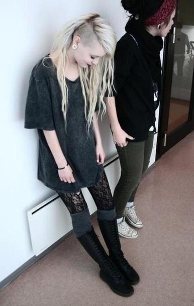 shoes goth grunge