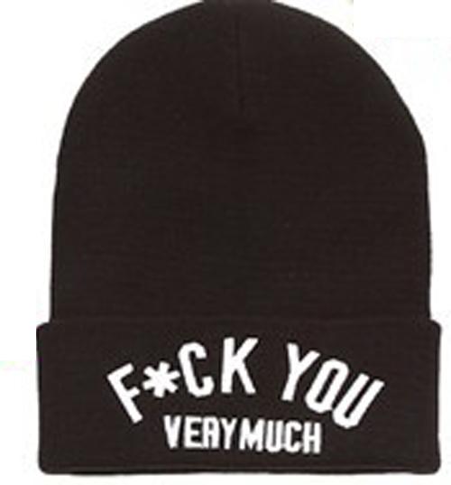 'F UCK You Very Much' Unisex Hot Sell Hip Hop U Street Beanie Hat Cap Free SHIP | eBay