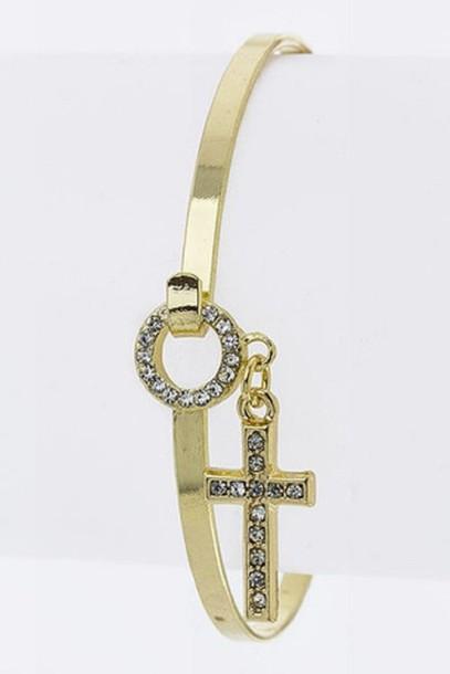 jewels bracelets bracelets cross diamonds crystal rhinestones accessories blue rubies jewelry