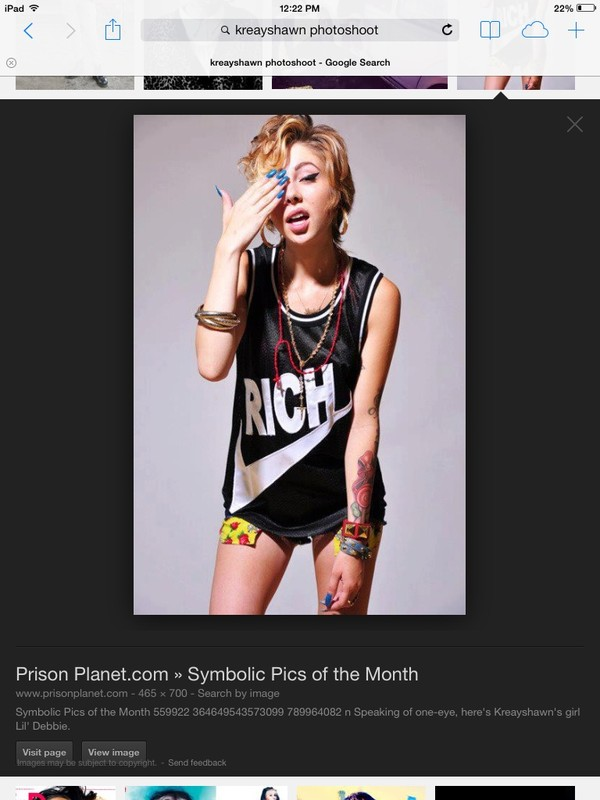 shirt tattoo shorts kreayshawn