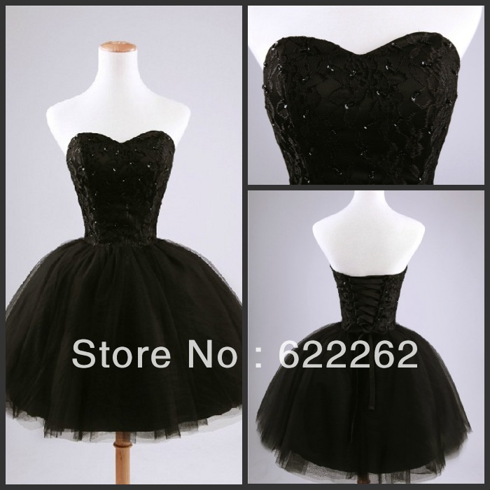 Princess Chic Bandage Back Lace Beading Black Prom Dresses Sleeveless Wholesale,Retail-in Prom Dresses from Apparel & Accessories on Aliexpress.com