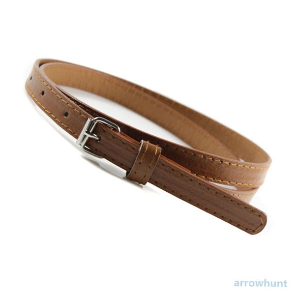 Sweetness Womens Faux Leather Candy Color Thin Skinny Waistband Adjustable Belt | eBay