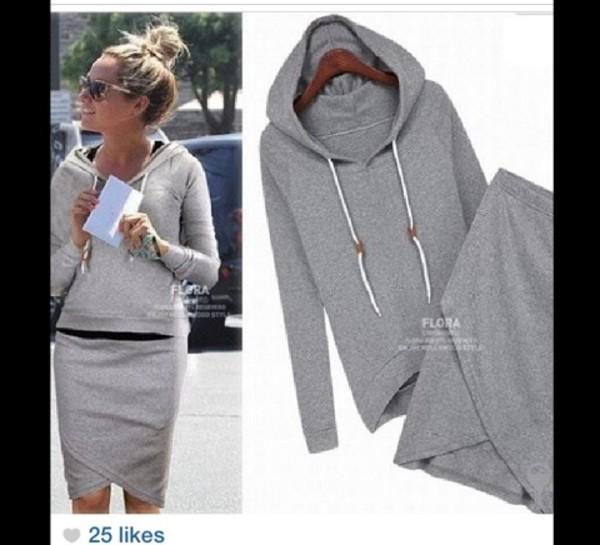 skirt hoodie