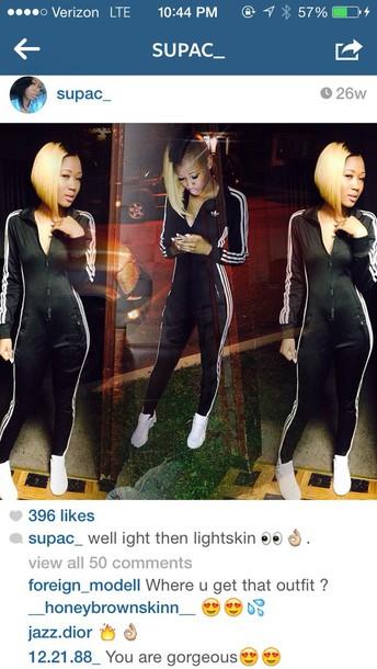 jumpsuit onesie adidas tracksuit bottom leggings tracksuit black