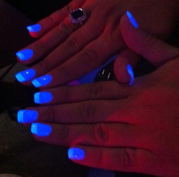 nail polish glow in the dark nail accessories