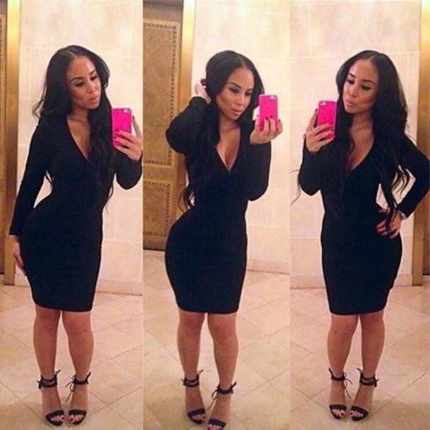 dress black dress heels shoes