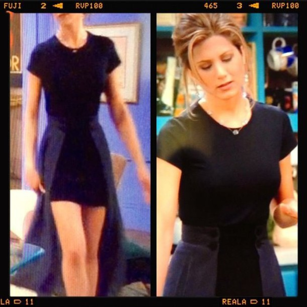 skirt jennifer aniston rachel green navy