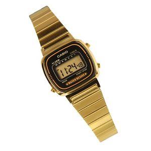 Casio LA670WGA 1 Women's Metal Band Vintage Gold Tone Digital Watch | eBay